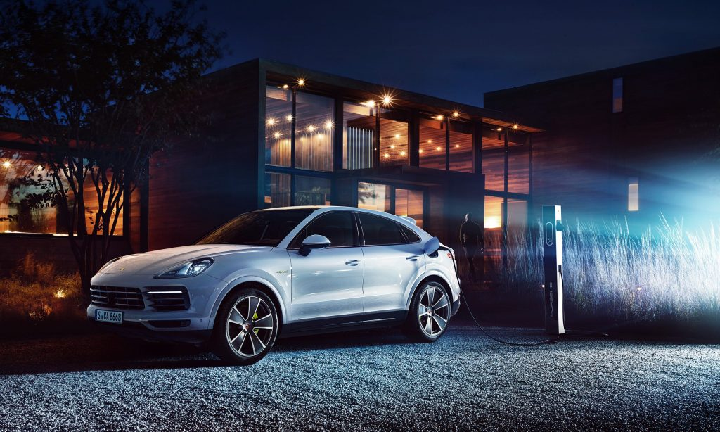 Porsche Cayenne Coupe, New York, Night, Outdoor, Car, Automotive, Auto